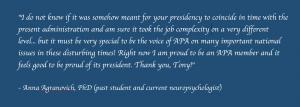Anna Agranovich Statement